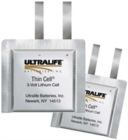 ULTRALIFE LITHIUM THIN CELL U10007 3V/400mAh