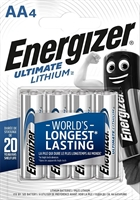 ENERGIZER ULTIMATE LITHIUM AA/L91 BLISTER 4
