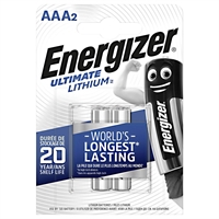 ENERGIZER LITHIUM ULTIMATE AAA/L92 BLISTER 2