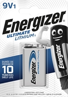ENERGIZER LITHIUM ULTIMATE 9V BLISTER 1