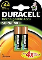 DURACELL RECHARGE SUPREME NIMH HR06 AA BLISTER 2
