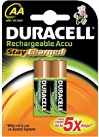 DURACELL STAY CHARGED NIMH HR06 AA BLISTER 2