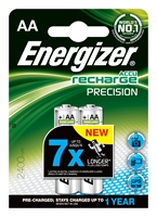 ENERGIZER NIMH PRECISION AA 2400MAH BLISTER 2