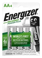 ENERGIZER NIMH POWER PLUS AA 2000MAH BLISTER 4