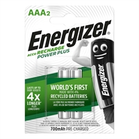 ENERGIZER NIMH POWER PLUS AAA 700MAH BLISTER 2