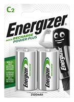 ENERGIZER NIMH POWER PLUS C 2500MAH BLISTER 2