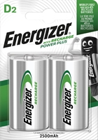 ENERGIZER NIMH POWER PLUS D 2500MAH BLISTER 2