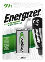 ENERGIZER NIMH POWER PLUS 9V 175MAH BLISTER 1