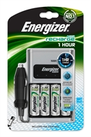 ENERGIZER NIMH LADER 1 HOUR + 4 AA 2300MAH / CAR ADAPTER