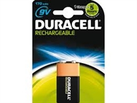DURACELL RECHARGEABLE 9V 170MAH BLISTER 1