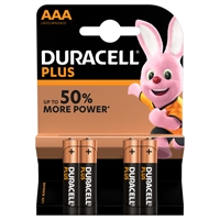 DURACELL PLUS POWER ALKALINE AAA/MN2400 BLISTER 4