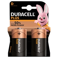 DURACELL PLUS POWER ALKALINE D/MN1300 BLISTER 2