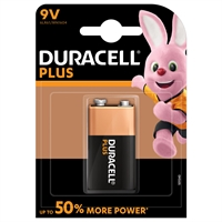 DURACELL PLUS POWER  ALKALINE 9V/MN1604 BLISTER 1