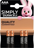 DURACELL SIMPLY ALKALINE AAA/MN2400 BLISTER 4