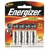 ENERGIZER MAX ALKALINE AA/R06 BLISTER 4