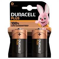 DURACELL PLUS ALKALINE EXTRA LIFE D/MN1300 BLS2