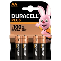 DURACELL PLUS ALKALINE EXTRA LIFE AA/MN1500 BLS4