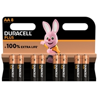 DURACELL PLUS ALKALINE EXTRA LIFE AA/MN1500 BLS8
