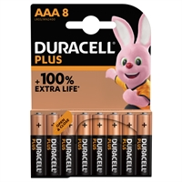 DURACELL PLUS ALKALINE EXTRA LIFE AAA/MN2400 BLS8