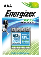 ENERGIZER ECO ADVANCED ALKALINE AAA/LR03 BLISTER 4