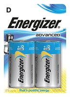 ENERGIZER ADVANCED ALKALINE D/LR20 BLISTER 2