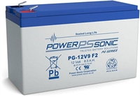 POWERSONIC 12V/9.0AH  SLA  AGM PG-12V9LONG LIFE