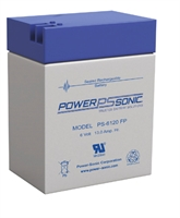 POWERSONIC 6V/12AH SLA  AGM PS6120FP US