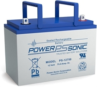 POWERSONIC PS12750 12V/75AH AGM T6 Lx259xB206xH215