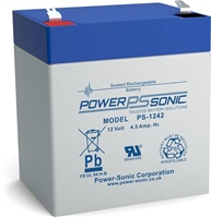 POWERSONIC PS1242 12V/4.5AH AGM F1 Lx90xB70xH101