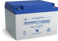 POWERSONIC 12V/26.0AH SLA  AGM BATT PS12260