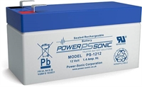 POWERSONIC 12V/1.2AH SLA  AGM PS1212S  -VDS-
