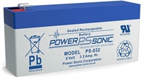 POWERSONIC 8V/3.2AH SLA  AGM PS832