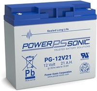 POWERSONIC PG12V21 LONG LIFE12V/21AH AGM T12 L182xB77xH167MM
