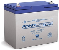 POWERSONIC PS12550 12V/55AH AGM T6 L229xB138xH210MM