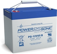 POWERSONIC 12V/65.0AH SLA  AGM PG12V65 LONG LIFE