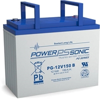 POWERSONIC 12V/150AH SLA  AGM PG12V150 LONG LIFE