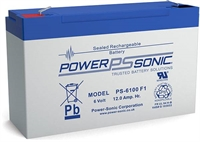 6V/10.0AH  POWERSONIC SLA  AGM BATT PS6100