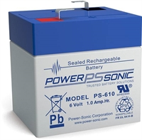 6V1.0AH POWERSONIC SLA  AGM BATT PS610