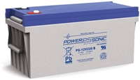 POWERSONIC 12V/220AH SLA  AGM PG12V220  LONG LIFE