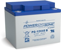 POWERSONIC 12V/45AH SLA  AGM PG12V45 LONG LIFE