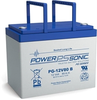 POWERSONIC 12V/80AH SLA  AGM PG12V80 LONG LIFE