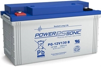 POWERSONIC 12V/130AH SLA  AGM PG LONG LIFE