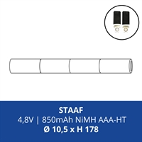ACCUPACK PS NIMH AAA  4,8V/850mAh STAAF FASTON