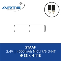 ACCUPACK SAFT NICD D 2,4V/4000mAh STAAF FASTON 4,8MM