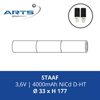ACCUPACK SAFT NICD D 3,6V/4000mAh STAAF FASTON 4,8MM