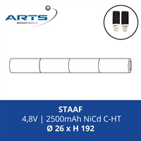 ACCUPACK SAFT NICD C 4,8V/2500mAh STAAF FASTON 4.8MM