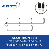 ACCUPACK SAFT NICD D 6V/4000mAh STAAF 2+3 TRAIN FASTON 4.8MM