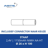 ACCUPACK SAFT NIMH AA 2,4V/1150mAh ST + CONNECTOR TYPE ..