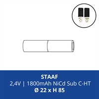 ACCUPACK PS NICD CS 2,4V/1800mAh STAAF FASTON 4,8MM