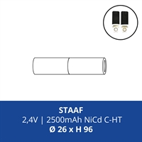 ACCUPACK PS NICD C 2,4V/2500mAh STAAF FASTON 4,8MM